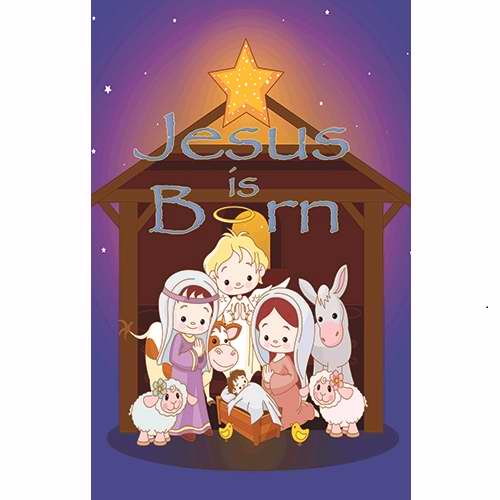 Banner-Christmas-Jesus Born (2' x 3') (Indoor)