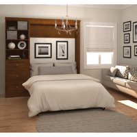 Versatile by Bestar 84'' Full Wall Bed Kit featuring Storage with 3 Drawers in Tuscany Brown