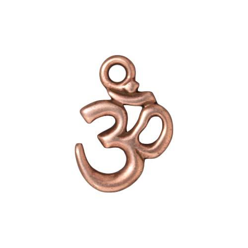 Copper Plated Pewter Om Ohm Aum Hindu Pendant 18mm (1)