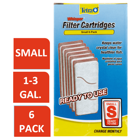 Tetra Whisper Replacement Carbon Aquarium Filter Cartridges, Sm 6 ct