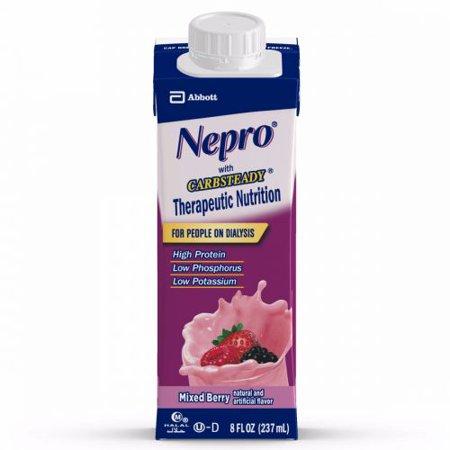 Nepro Mixed Berry  8 Ounce Recloseable Carton  Abbott 64796   Case Of 24