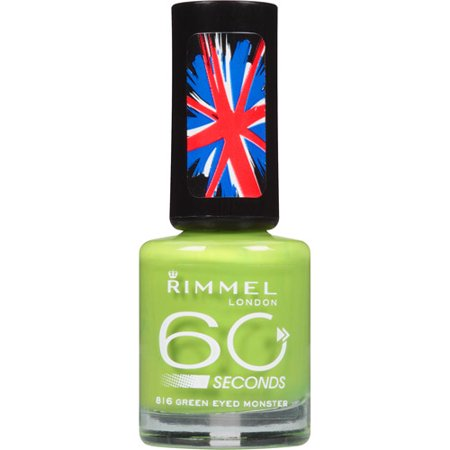 Rimmel London 60 Seconds Nail Polish, 816 Green Eyed Monster, 0.27 ...