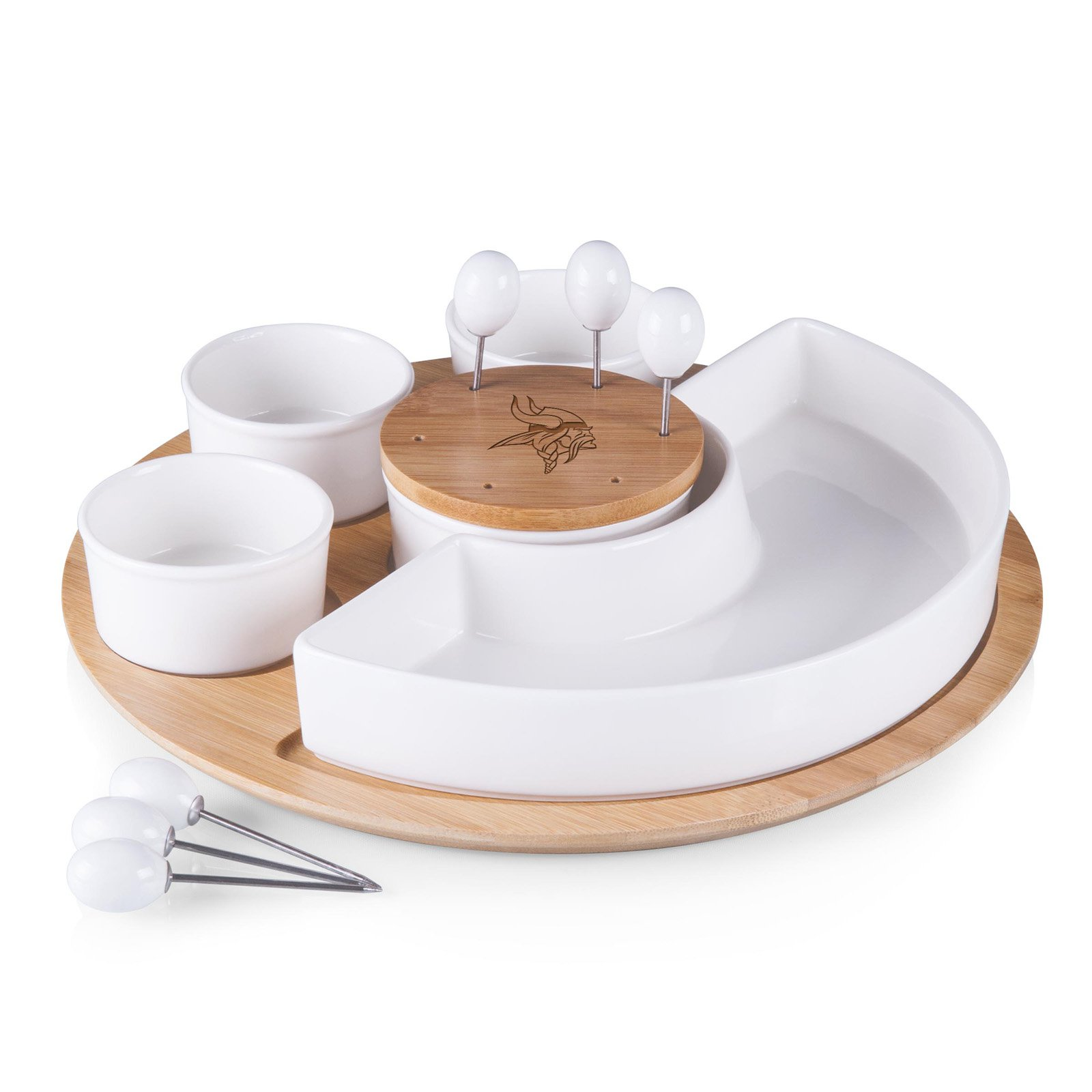 Picnic Time NFL Symphony Appetizer Serving Set