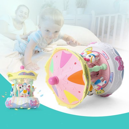 matoen Carousel Music Box Puzzle Sound And Light Baby Story Learning Machine Baby Carousel Music Box