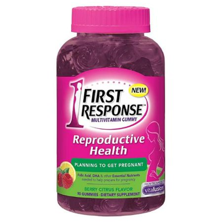 FIRST RESPONSE santé de la reproduction de soutien avant la grossesse multivitamines Gummy, Berry Citrus 90 ch (Lot de 4)