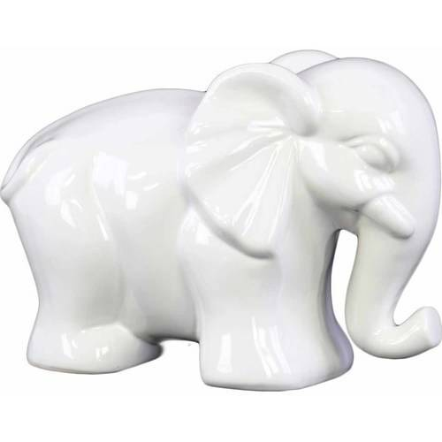 Urban Trends Collection: Ceramic Elephant Figurine, Gloss Finish, Red