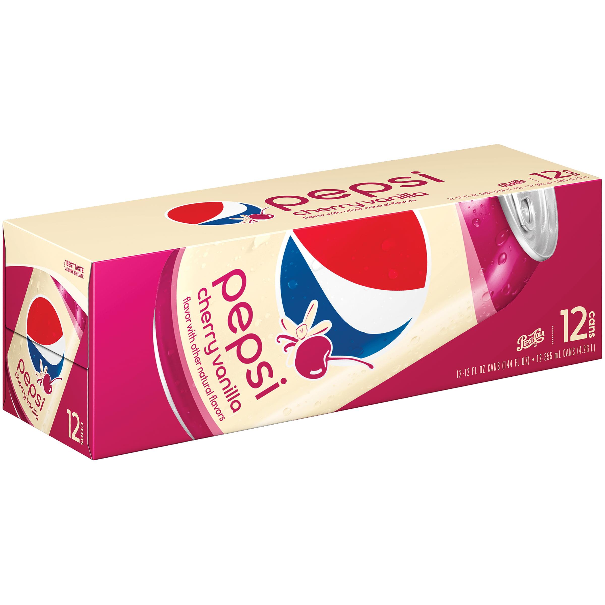 Pepsi-Cola® Pepsi Cherry Vanilla Soda, 12 Count, 12 fl. oz. Cans
