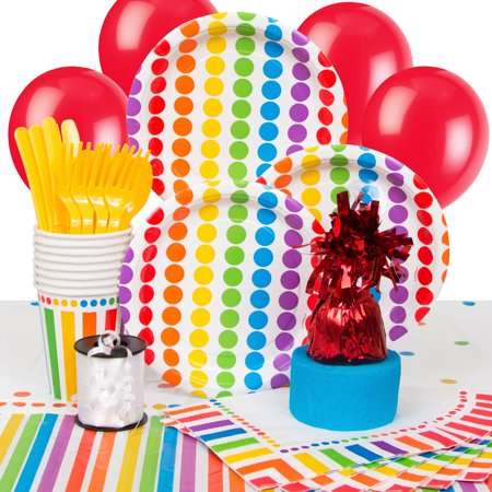 Neon Party Supplies (Rainbow Party Supplies Kit for)