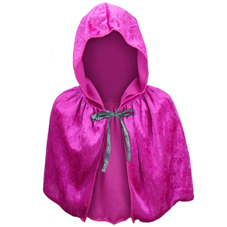 Cruise Director Halloween Costume (SeasonsTrading Child Magenta Velvet Hooded Cape Capelet - Kids Princess FairyTale Fantasy Costume, Halloween, Anna Cosplay, Party,)