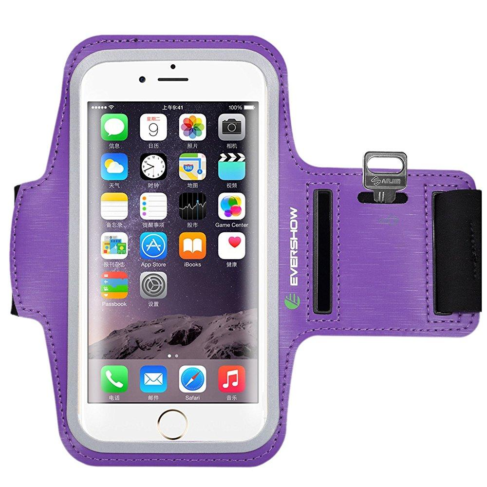 evershow water resistant sports armband for iphone 6/6s p...