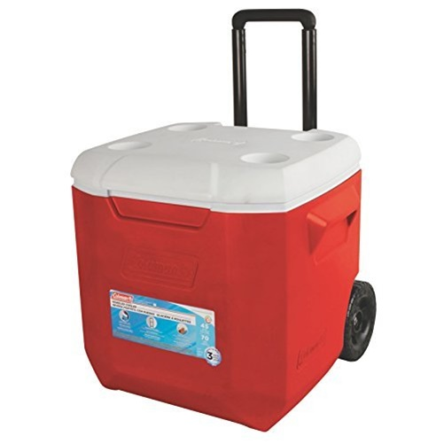Coleman 45 qt WHLD Red Cooler