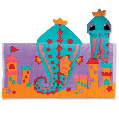 Seahorse Hooded Towel by Stephen Joseph - SJ1004-36