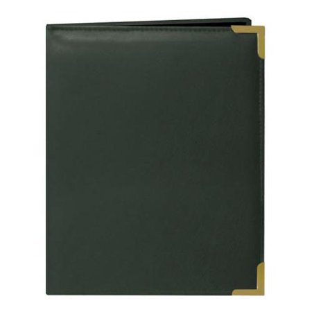 Wallet Oxford Bound Photo Album, Solid Color Sewn Leatherette Covers wivh Brass Accent Corners, Holds 24 2.5x3.5