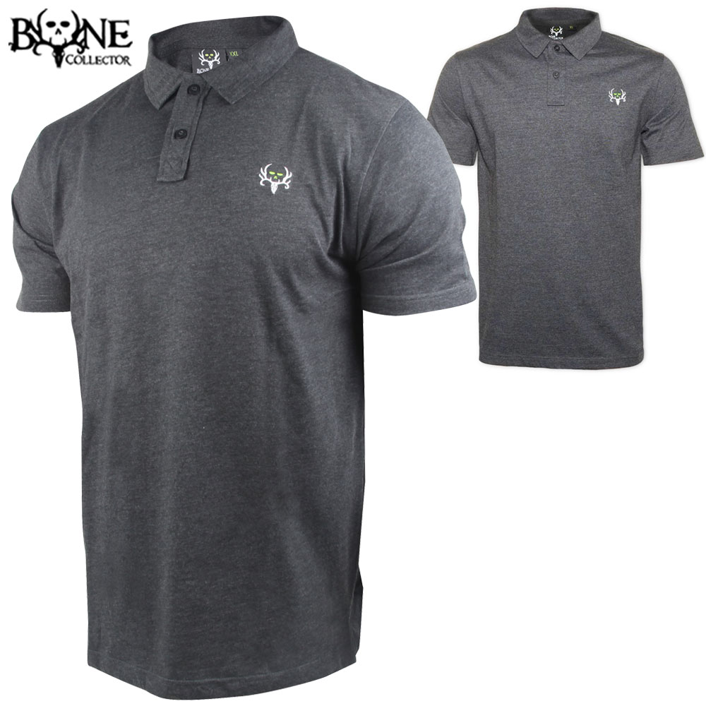 Bone Collector Boondocks Polo (S)- Heather Grey