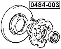 Febest 0484 003 Wheel Bolt Lug Nut Mitsubishi Delica Pd4wpd6w