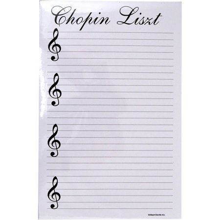 AIM Chopin Liszt Notepad - Note Quotes Notepad