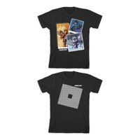 Roblox Boys Logo & Character Box Graphic T-Shirts 2-Pack, Sizes 4-18