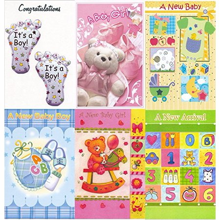 Assorted New Baby Congratulations Greeting Cards in a Bulk 12 Pack](Dreidels In Bulk)