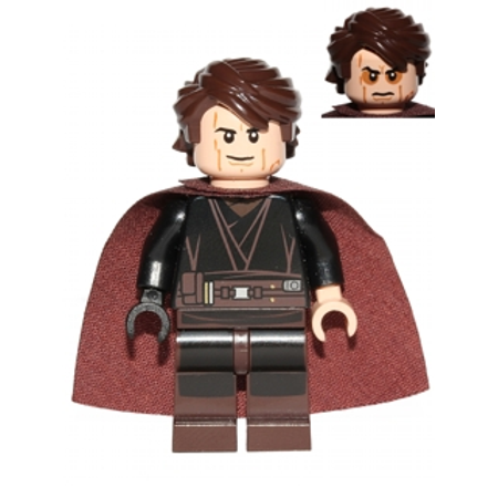LEGO Star Wars Anakin Skywalker (Sith Face, Cape - 9526) Minifigure