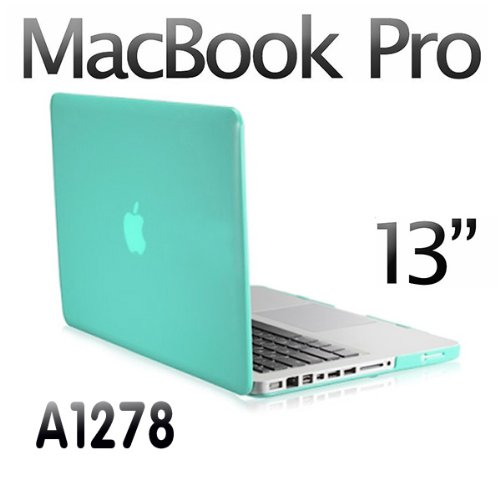 "Agptek 3 in 1 Blue Rubberized Hard Case Laptop Shell for Apple Macbook Pro 13 13.3"" A1278 + Keyboard Skin + Screen Cover"