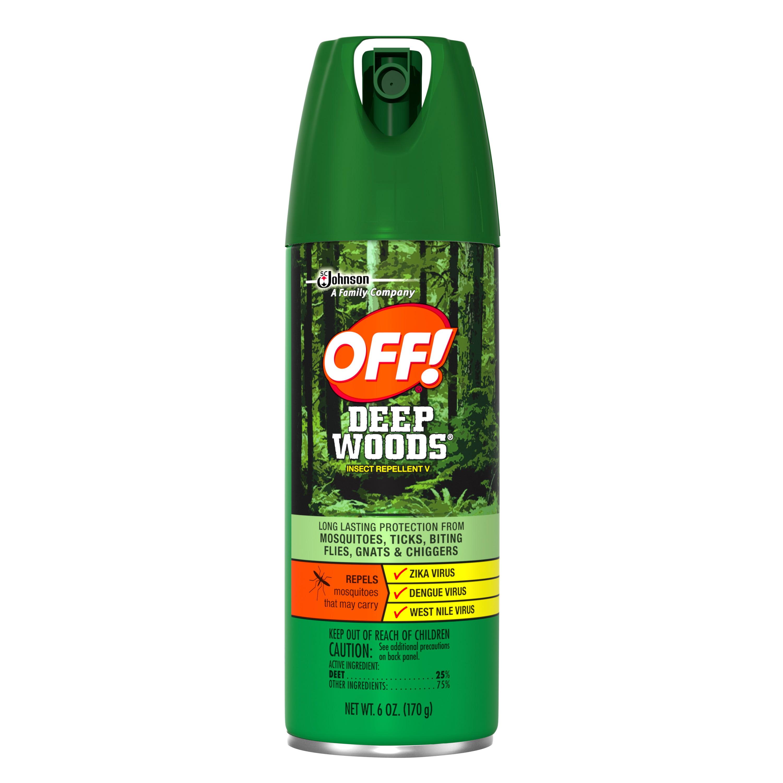 OFF Deep Woods Insect Repellent V 6 Ounces Walmart