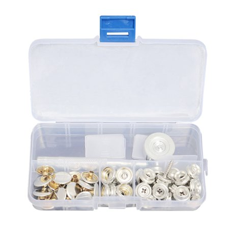 15MM Stainless Canvas to Screw Press Stud Snap Kit Boat Cover Fitting Fastener Cam Cover Screw Kit