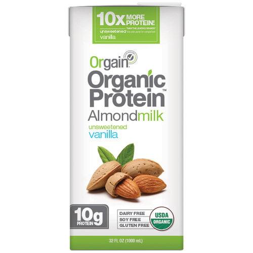 (6 Pack) Orgain Organic Protein Almond Milk, Unsweetened Vanilla, 32 Fl Oz
