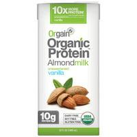 Orgain Organic Protein Unsweetened Vanilla Almond Milk, 32 fl oz
