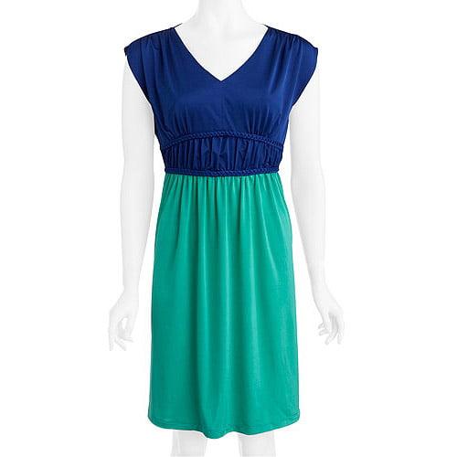 Women's Knit Jersey Colorblock Dress