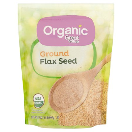 Flax Seed Gluten Free - Great Value Organic Ground Flax Seed, 2 lbs