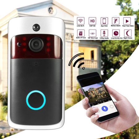 Smart Wireless WiFi Security DoorBell Smart Video Door Phone Visual Recording Low Power Consumption Remote Home Monitoring Night (Best Ring Video Doorbells)