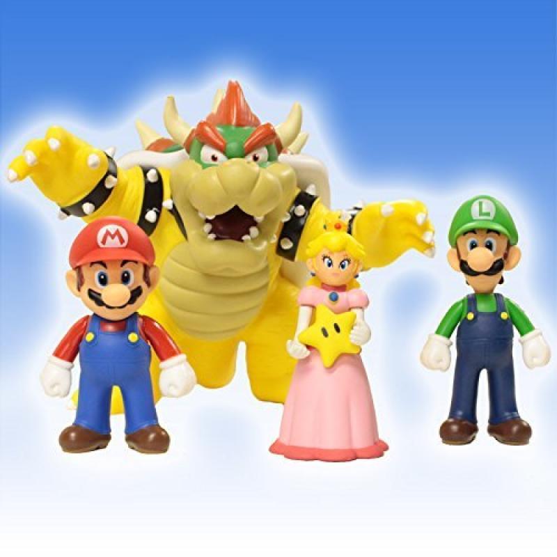 Banpresto Super Mario Brothers 4-Piece Action Figure Set ...