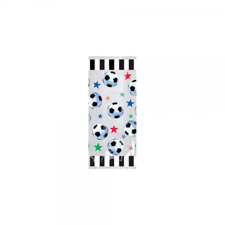 Amscan Party Ready Stars & Soccer Balls Large Favor Bags, Multicolor, 11 1/2 x 5 x 3 1/4 (Soccer Party Decor)