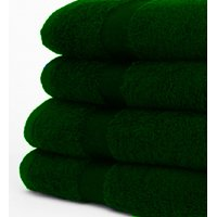 "GHP 6-Pcs Forrest Green 16""x27"" Cotton Blend Hand Towels w Single Cam Dobby Border"
