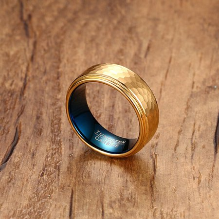 Tungsten Carbide Wedding Ring Men Jewelry Three-diMenional ...