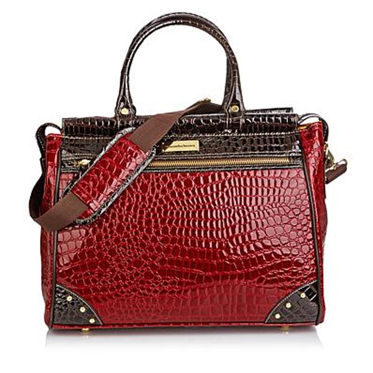 Plus Extras~Burgundy Crossbody Bag Samantha Brown Weekender Set