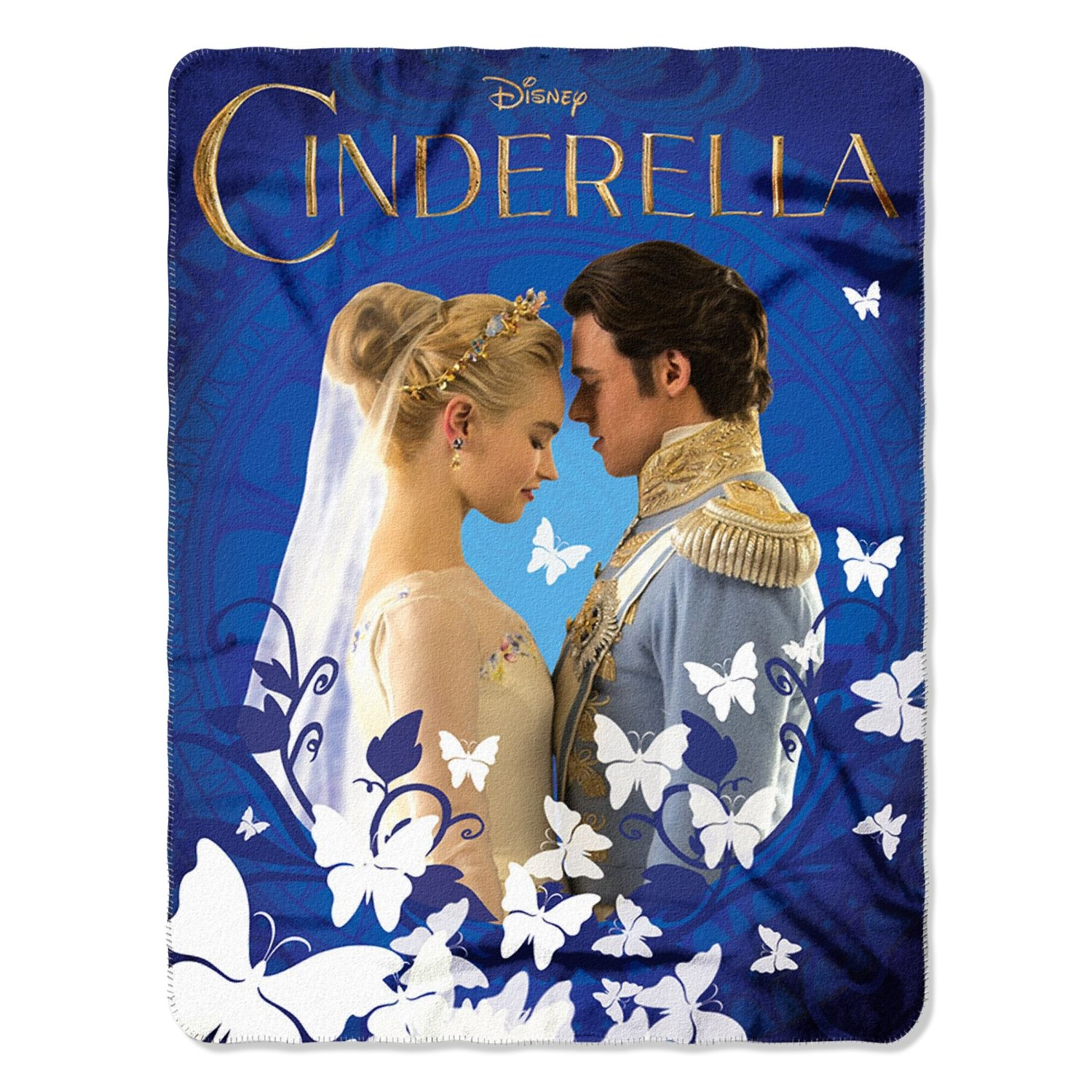 Cinderella Royal Couple 46x60 Soft Fleece Throw Blanket
