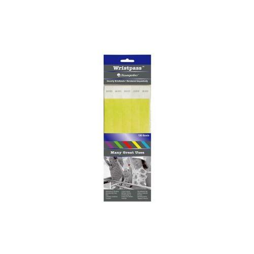 BAUMGARTENS Security Wrist Band,Tear-Resistant,10x3/4, 100/PK, YW