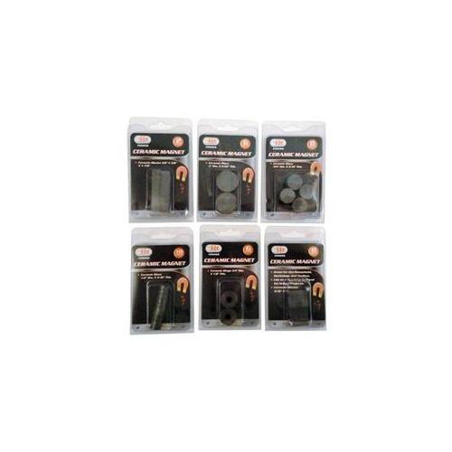 DDI 1755461 Ceramic Magnet Assorted Blocks  Ring  Disc 2-10 Pieces Case Of 24