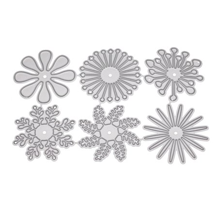 All clearance New 2018 6 Pcs/set Different Flower Shape Metal Cutting Dies for Scrapbooking DIY Decorative ()