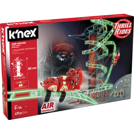 Knex Thrill Rides   Web Weaver Roller Coaster Building Set   439 Pieces   Ages 9 And Up   Construction Educational Toy