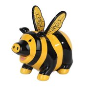 "PTC StealStreet 9879 Ceramic Bumble Bee Savings Piggy/Coin/Money Bank, 6.50"""