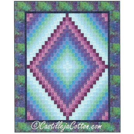 Kaleidoscope Lap Quilt Pattern by CastillejaCotton