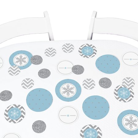 Winter Wonderland - Snowflake Holiday Party & Winter Wedding Party Circle Confetti - Holiday & Wedding Party Decor-27 - Winter Party