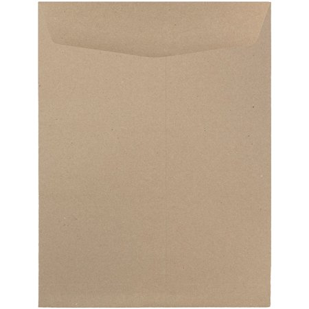JAM Paper 9 x 12 Open End Catalog Envelopes with Gum Closure, Brown Kraft Paper Bag,