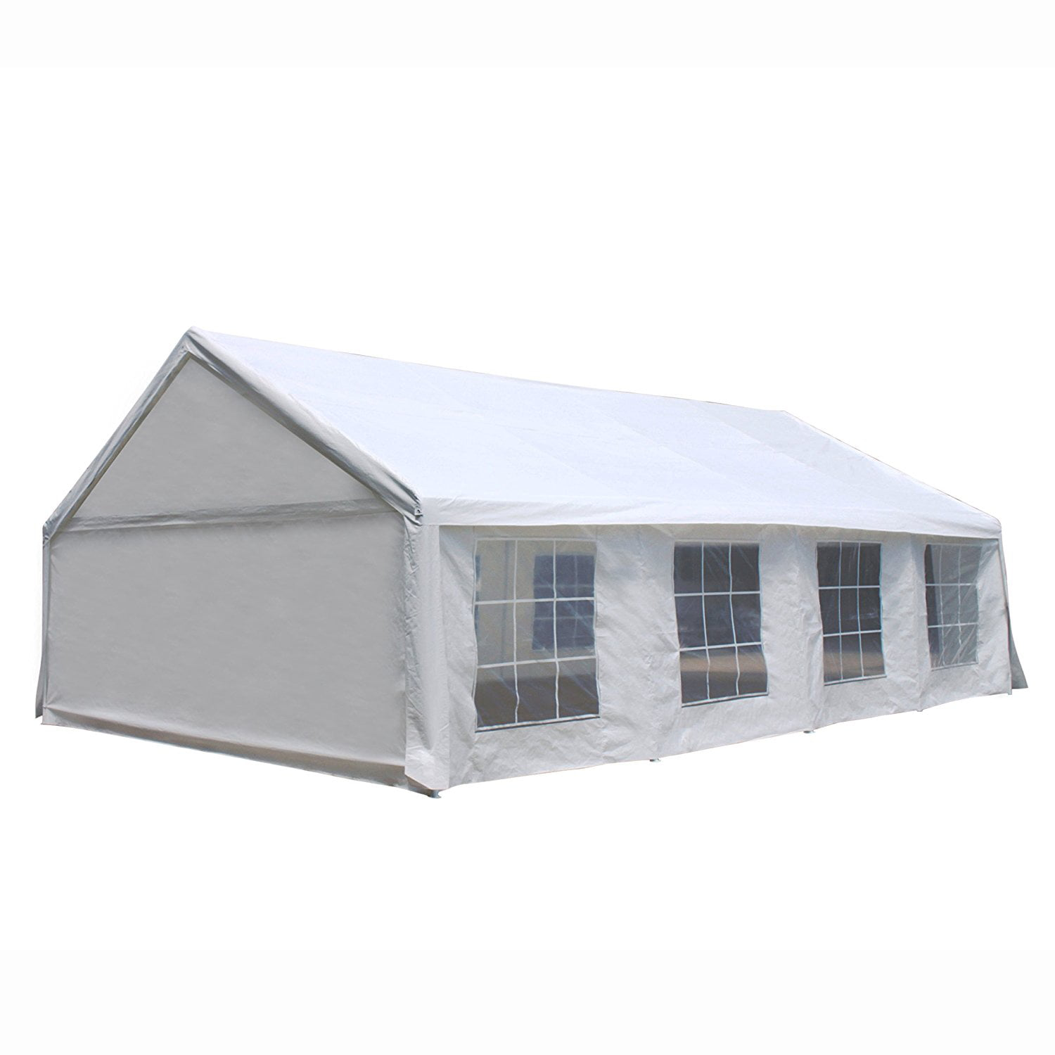 Aleko Heavy Duty Outdoor Canopy Tent with Windows 20 X 30 Feet White by ALEKO