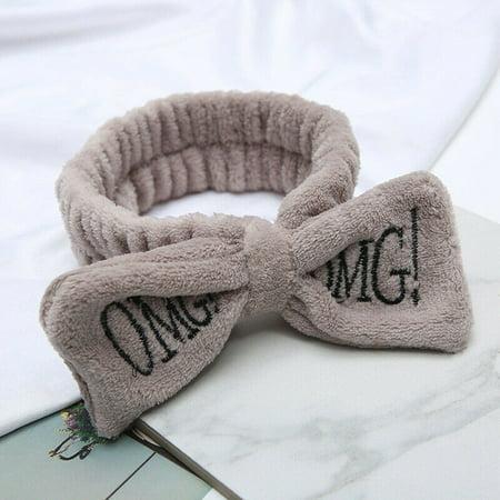 Velvet Hairband Solid Bow Knot Women Hair Ring Head Hoop Girls Headbands