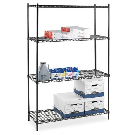 Lorell Industrial Wire 72'' H 4 Shelf Shelving Unit  Starter