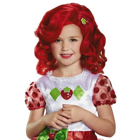 Strawberry Shortcake Wig Child Halloween - Strawberry Shortcake Wigs