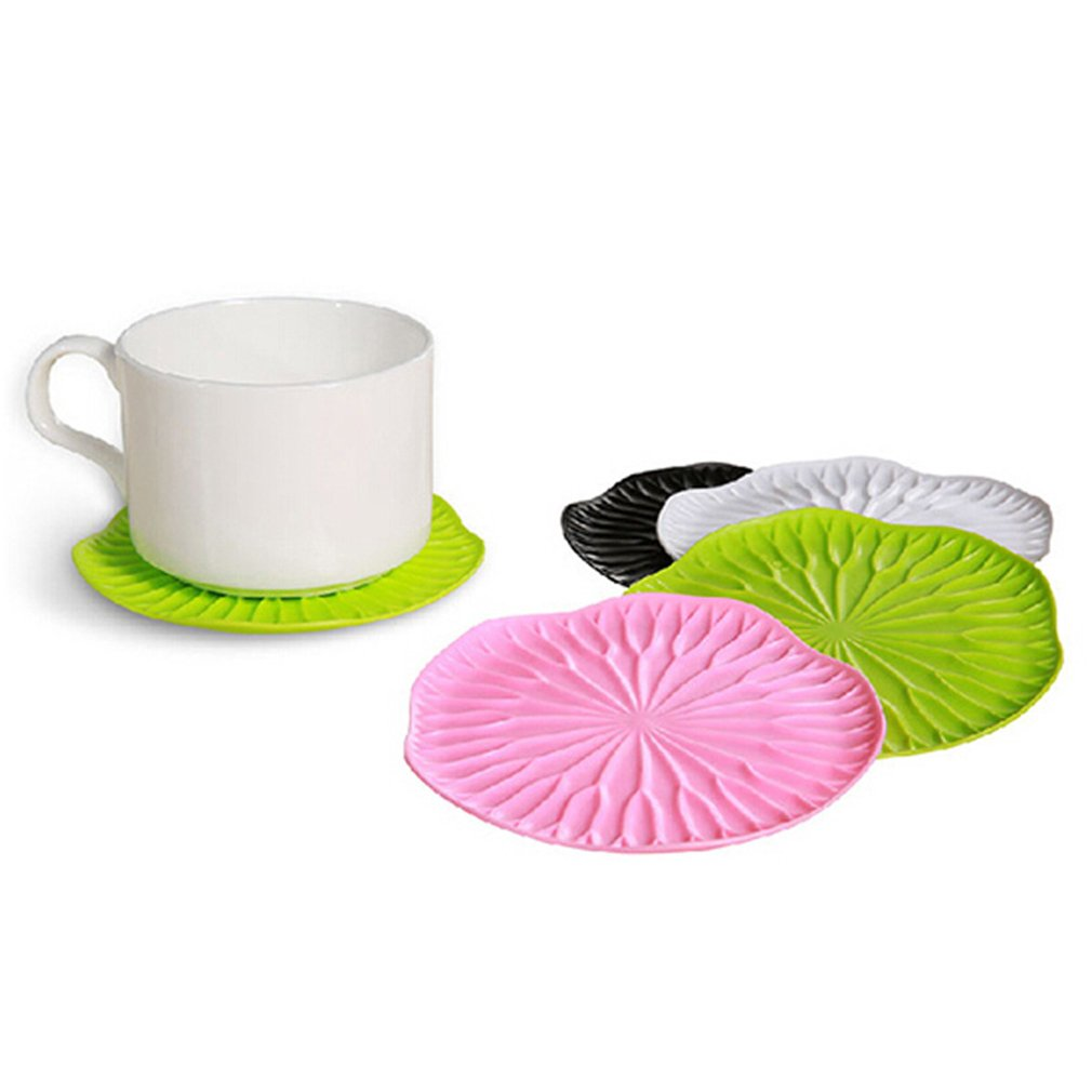 OUTAD 3D Unique Lotus Leaf Heat Insulation Coffee Tea Cup Mat Pad Coaster Cushion